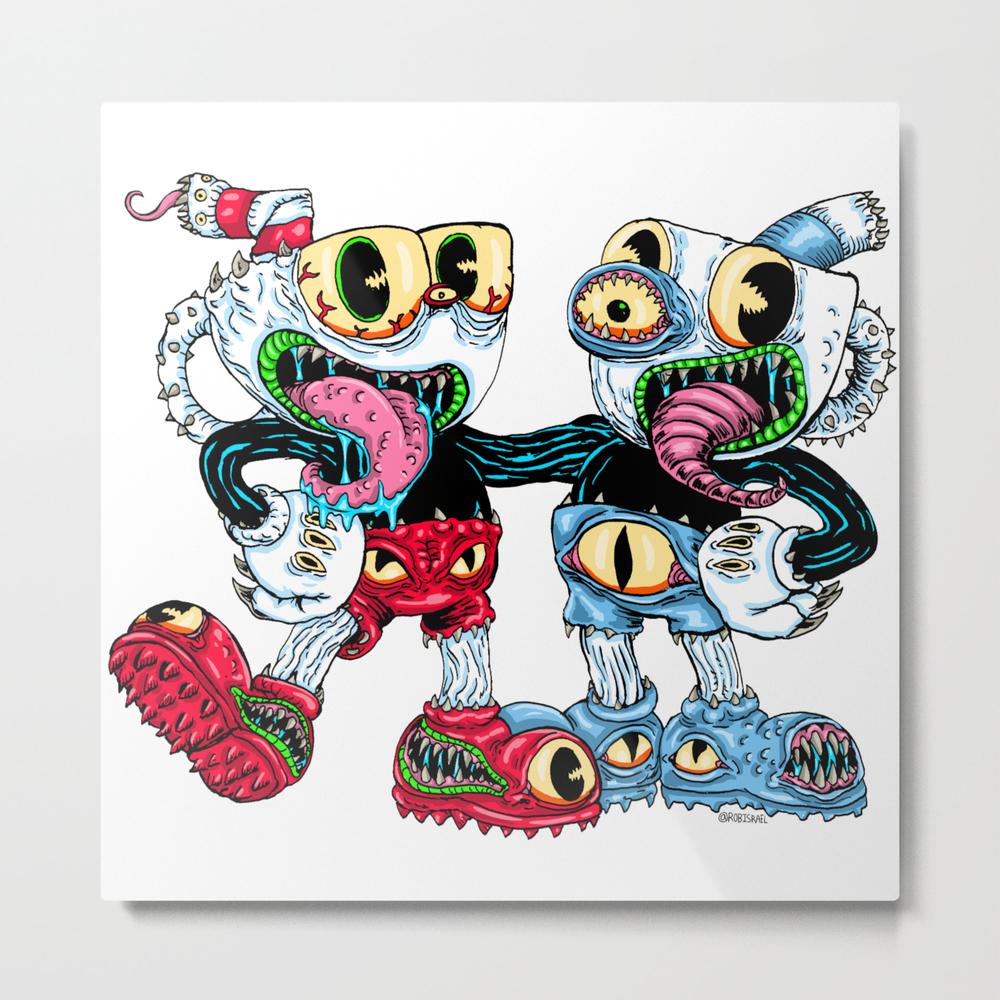 Monster Cups Metal Print by Robisrael MTP8436053