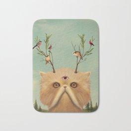 Bastet, Cat Deity - patron of the forest & animals Bath Mat