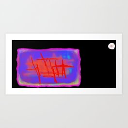 Icarus Christ - black Art Print