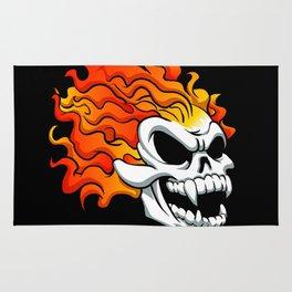 Burning skull Rug
