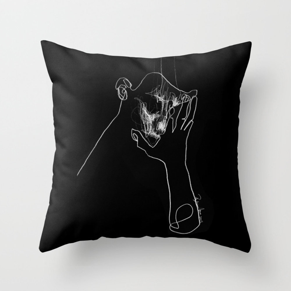 As Tears Go By Throw Pillow by Bensonkoo PLW9098676
