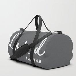 Loved 1John 4:9 Duffle Bag