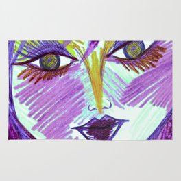 Purple Lily Tiger Times Rug