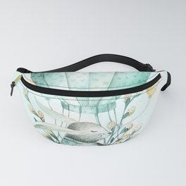 Cute Easter Bunny Hot Balloon Fanny Pack