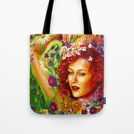 The Sparkling Flower Tote Bag