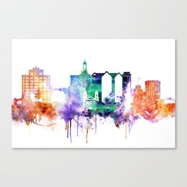 San Joce Watercolor Skyline Canvas Print