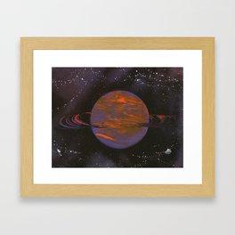 Ring Planet Framed Art Print