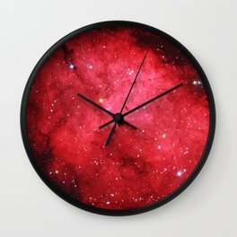 Emission Nebula Wall Clock