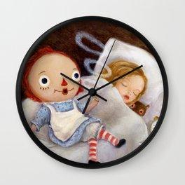 Smoking Raggedy Ann Doll Wall Clock