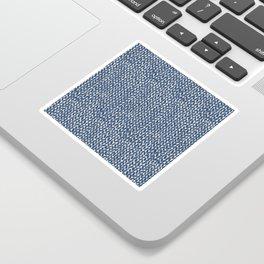 Hand Knit Navy Sticker