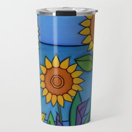 Sunflower Dance Travel Mug