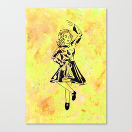 Imbolc  (traditional Irish step dancer celebrating Brigid and the festival of light) Canvas Print