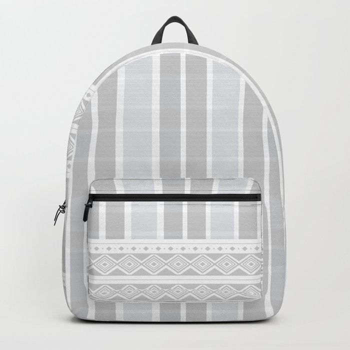 Grey Chromatic Plaid with a decorative pattern Backpack