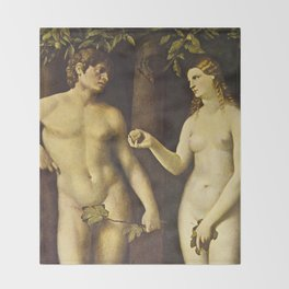 Adam and Eve Throw Blanket