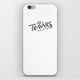 As Travars - To Travel (black) iPhone Skin