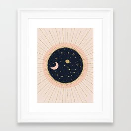 Love in Space Framed Art Print