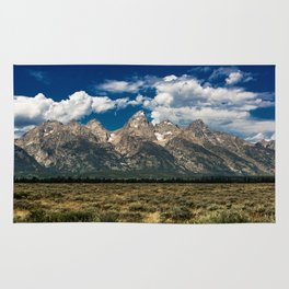 The Grand Tetons - Summer Mountains Rug