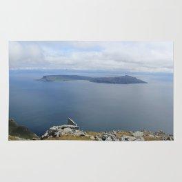 Isle of Eigg viewed from the Isle of Rum Rug