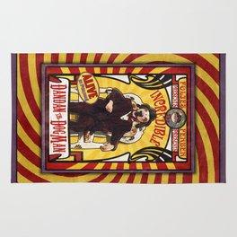 Dandan the Dog Man- Vintage Sideshow Poster Rug
