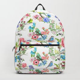 Budgies and Blooms Backpack