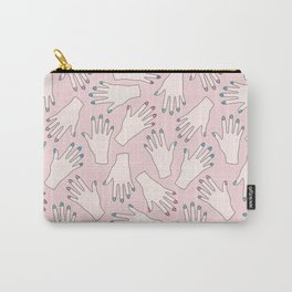 Pastel Manicured Hands Pattern Carry-All Pouch
