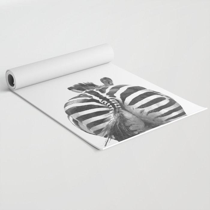 Black and White Zebra Tail Yoga Mat by alemi | Society6