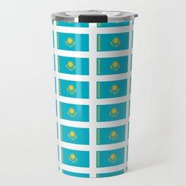 flag of Kazakhstan -Kazakhstan,Kazakh,Қазақстан,Казахстан,Kazakhstani,Astana. Travel Mug