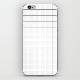 Grid Simple Line White Minimalistic iPhone Skin