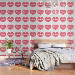 Heart Pizza Wallpaper