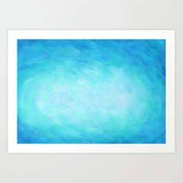 Blue Healing Waters Art Print