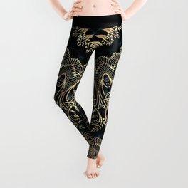 Gold Filigree Mandala Leggings