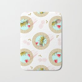 Aztec Fruit Pattern Bath Mat