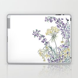 Wild Flowers Ink and Watercolor  Laptop & iPad Skin