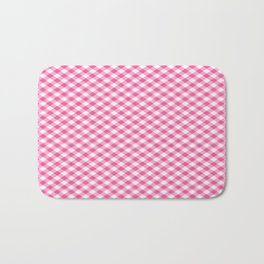 Pink Roses in Anzures 1 Gingham 1 Bath Mat