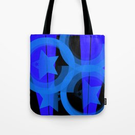 Blue stars and stripes Tote Bag