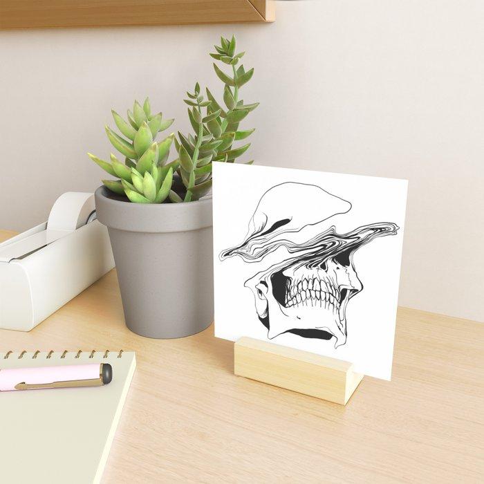 Skull (Liquify) Mini Art Print