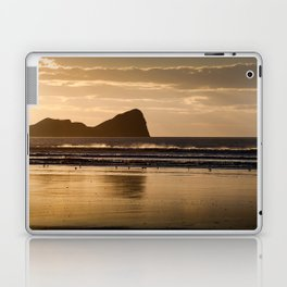 Rhossili beach and Worms Head Laptop & iPad Skin