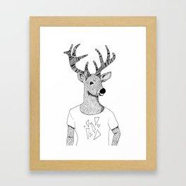 Deer Triangle Tee Framed Art Print