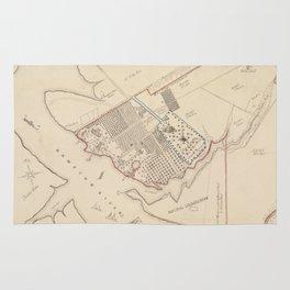 Vintage Map of Hampton Virginia (1867) Rug