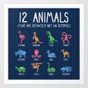 12 Animals (That Are Definitely Not An Octopus) Square Layout by gyledesigns
