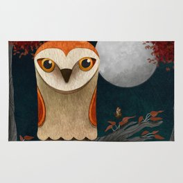 Deep in the Night, Owl Eyes Bright Rug