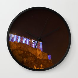 Edinburgh Castle in Blue 2 Wall Clock