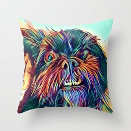 The GRIFFON from our POP YOUR POOCH line Throw Pillow