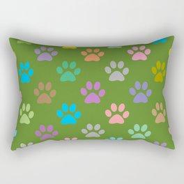 Colorful paws pattern Rectangular Pillow