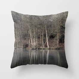 Winter at Cannop Ponds 2 Throw Pillow