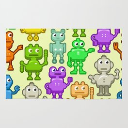Background with funny robots Rug