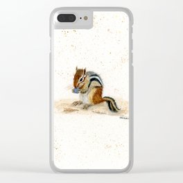 """""""Chippy"""" Chipmunk - animal watercolor painting Clear iPhone Case"""