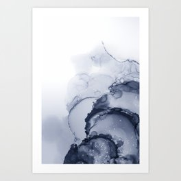 BLUE INK 88 Art Print