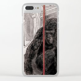 Gorilla on the Tube Clear iPhone Case