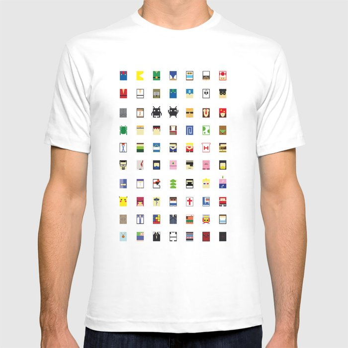 Minimalism beloved Videogame Characters T-shirt